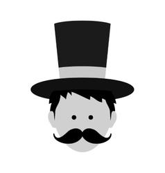 Magician circus cartoon vector