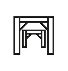 Mining mine entrance icon on white background vector
