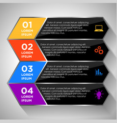 Modern infographic elements vector