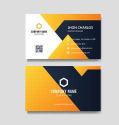 modern orange business card vector image