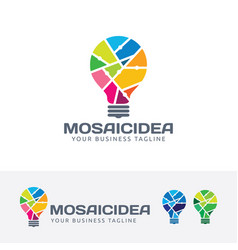 mosaic idea logo design vector image