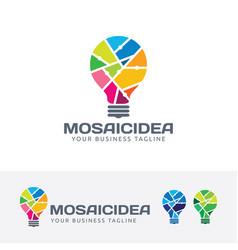mosaic idea logo design vector image