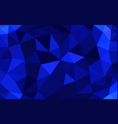 navy blue low poly background abstract crystal vector image
