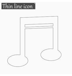 Note icon Style thin line vector image