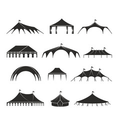 Outdoor shelter tent event pavilion tents vector