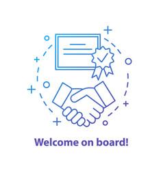 Partnership concept icon vector