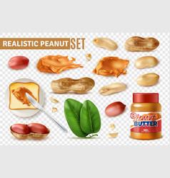 Peanut butter transparent set vector