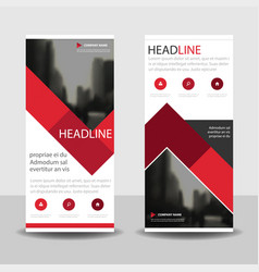 Red label roll up business brochure flyer banner vector