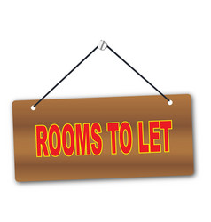 rooms to let vector image