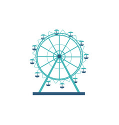 round silhouette and icon a ferris wheel vector image