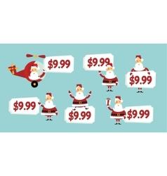 Santa price tag vector