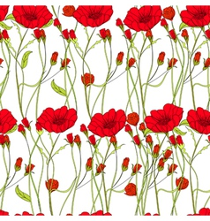 Seamless wallpaper with rose flowers vector image