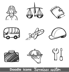 Services sector icons vector