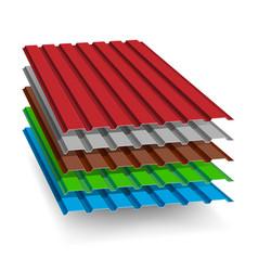 Set different types metal roof vector