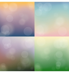 Set of blurry abstract background vector image