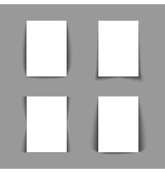 Set of white lists of paper vector image
