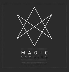 shaped simple element of magic symbol vector image