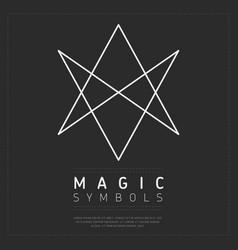 Shaped simple element of magic symbol vector