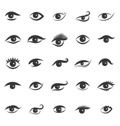 Simple eye icon isolated on white background vector