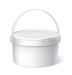 small white plastic bucket vector image