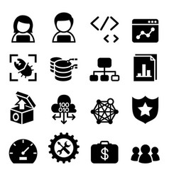 software development design computer vector image