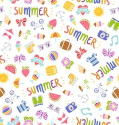 Summer doodle pattern vector