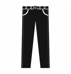 Trousers with belt icon in simple style vector