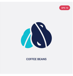 two color coffee beans icon from brazilia concept vector image
