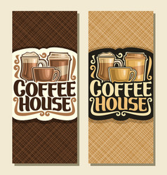 vertical banners for coffee house vector image