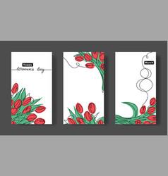 women s day set cards social media vector image