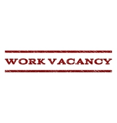Work vacancy watermark stamp vector