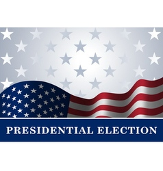 American flag background presidential election vector