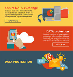 secure data exchange and protection program vector image