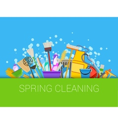 Spring cleaning composition vector image vector image