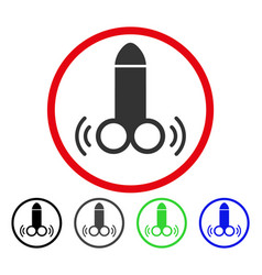 Vibro dildo rounded icon vector