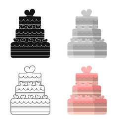 wedding cake icon of for web vector image vector image