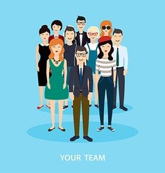 Business Team Teamwork Social Network and Social vector image