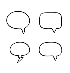 Hand-drawn speech bubbles vector image vector image