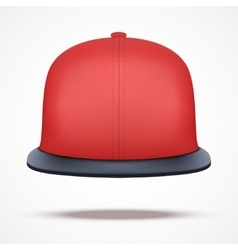 Layout of red rap cap vector image vector image