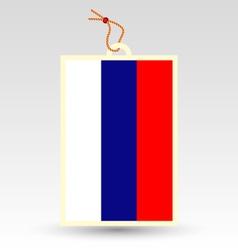 russia tag vector image vector image