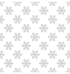 Snowflakes seamless pattern for adult anti stress vector image vector image