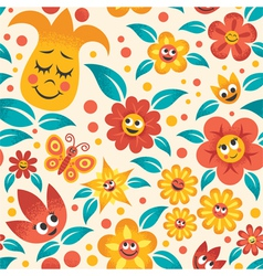Cartoon Floral Pattern vector image