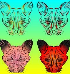 Fox and chanterelles vector image