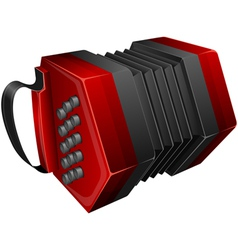 red concertina isolated on white vector image vector image