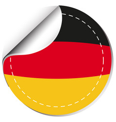 sticker design for germany flag vector image