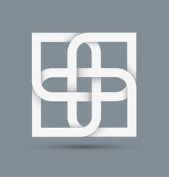 Stylized abstract white icon for design vector