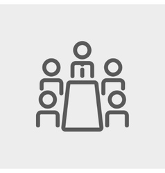 Business meeting in office thin line icon vector image