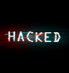 hacked glitched abstract digital background vector image vector image