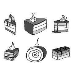 sketch cake element vector image vector image