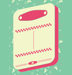 1950s diner style background and frame vector image